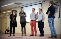 Aanbieden eerste exemplaar 'iGender' aan wethouder Pastoor en voorzitter Transgendergroep Groningen, juni '12.