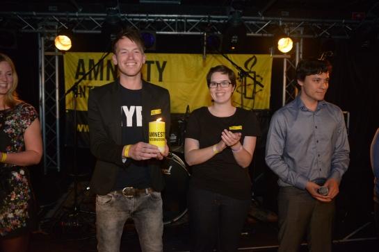 We winnen de mensenrechtenprijs 'Glazen Kaars' van Amnesty International, 9 mei 2013