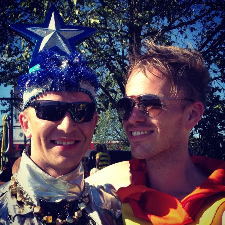 Sergej & Kris tijdens de Canal Parade '13!