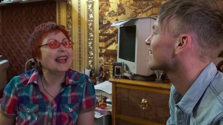 Screenshot van het interview met Alla, voor 5000 Roebel.
